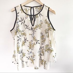 Maurice's Floral Cold Shoulder Blouse